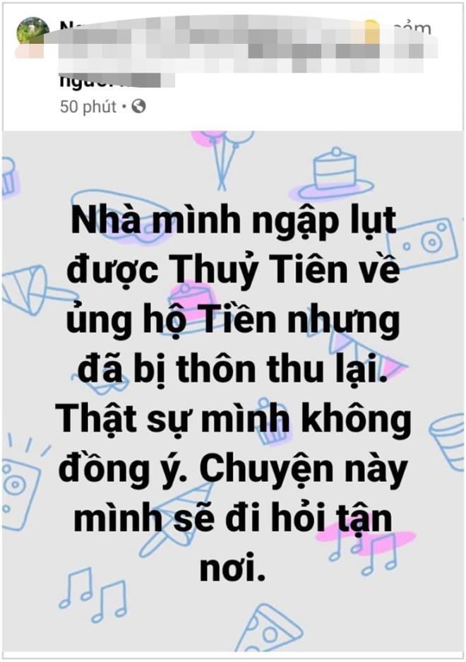 Cán bộ thôn ở Quảng Bình thu lại tiền của ca sĩ Thủy Tiên ủng hộ dân vùng lũ - 1