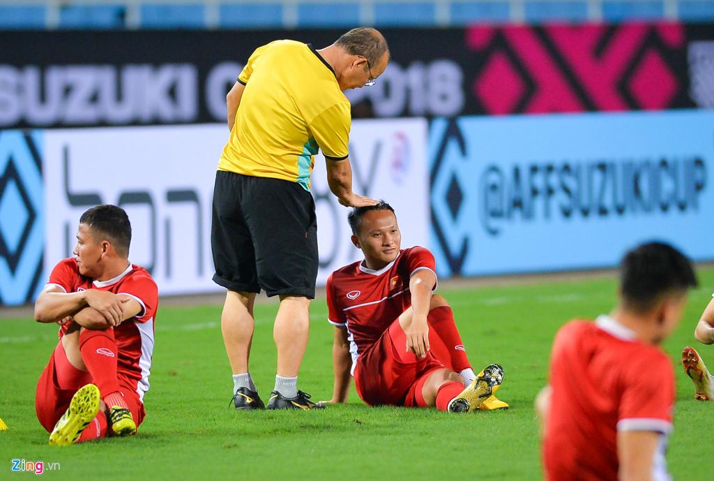 aff cup 2018 doi tuyen viet nam lam quen san my dinh truoc khi gap malaysia