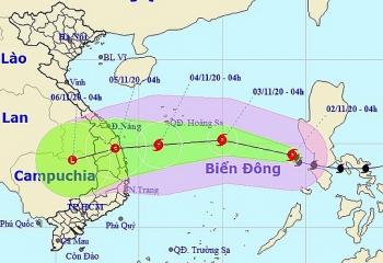 Bão Goni hướng vào Đà Nẵng - Phú Yên