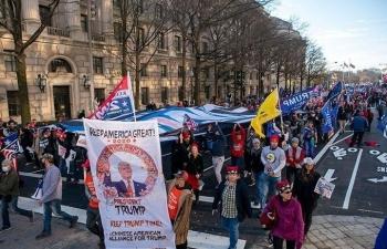 Biểu tình ủng hộ Trump ngày quốc hội định đoạt bầu cử
