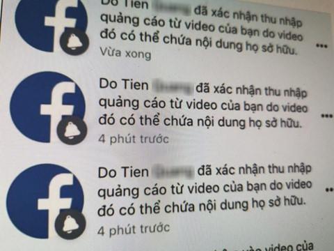 nhan vo ban quyen video kiem tien ty tren facebook tai vn