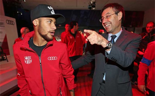 Neymar ví Chủ tịch Barca như gã hề