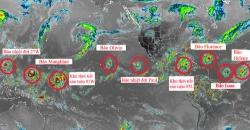 Một loạt bão nhiệt đới cùng lúc càn quét các đại dương