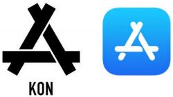 apple bi kien vi logo app store giong mot cong ty quan ao trung quoc