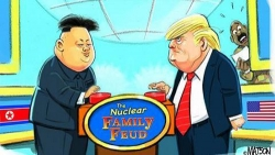 Hãng đồ ăn nhanh nhại lời khoe nút bấm hạt nhân của Trump