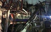 Xe trộn bê tông đâm sập trạm biến áp, 4 người thương vong
