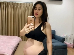 than thuy ha mang thai lan hai o tuoi 40 sau 8 nam lam me don than