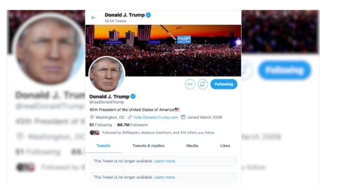 Vì sao Twitter của Tổng thống Trump bị khóa?