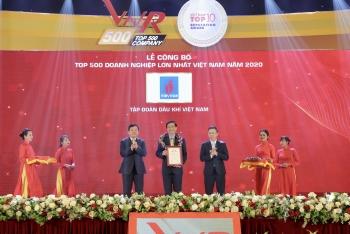 """Vượt """"khủng hoảng kép"""", Petrovietnam duy trì vị trí hàng đầu các Doanh nghiệp lớn nhất Việt Nam"""