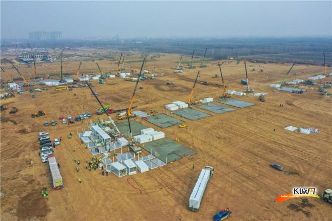 Thành phố Trung Quốc gấp rút xây trung tâm cách ly tập trung COVID-19 - 5