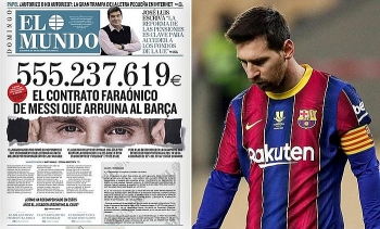 Rò rỉ hợp đồng trị giá hơn 500 triệu Euro giữa Lionel Messi và Barca