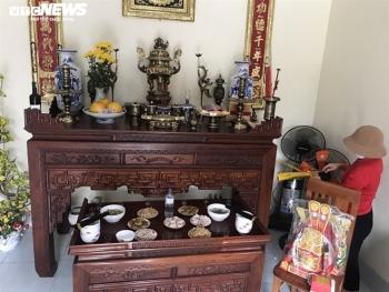 Mâm cơm đặc biệt cúng Táo quân trong tâm dịch Chí Linh