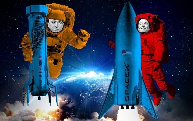 """Cuộc đua vũ trụ giữa Jeff Bezos và Elon Musk ngày càng """"nóng"""""""