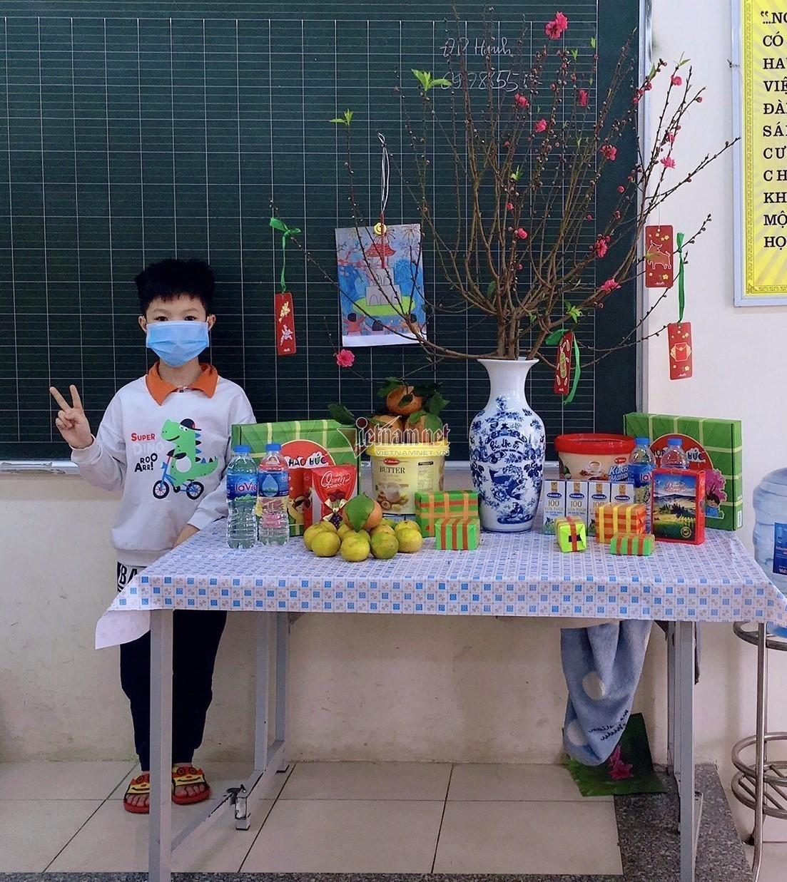 Học sinh tiểu học Hà Nội cùng nhau đón Tết sớm trong khu cách ly - 2