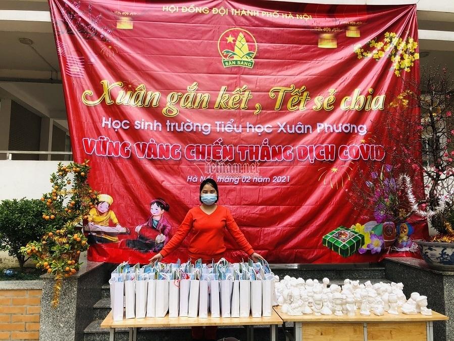 Học sinh tiểu học Hà Nội cùng nhau đón Tết sớm trong khu cách ly - 1