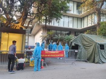 Ảnh: Cách ly khách sạn nơi bệnh nhân Nhật Bản dương tính SARS-CoV-2 thiệt mạng