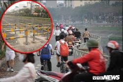 Ba lớp rào chắn xe máy vào đường đi bộ và nền văn hoá giao thông hoang dại ở Việt Nam