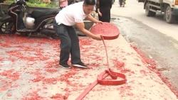 Đốt pháo đỏ đường trong đám cưới ở Hà Nội: Đề nghị làm rõ đồng phạm