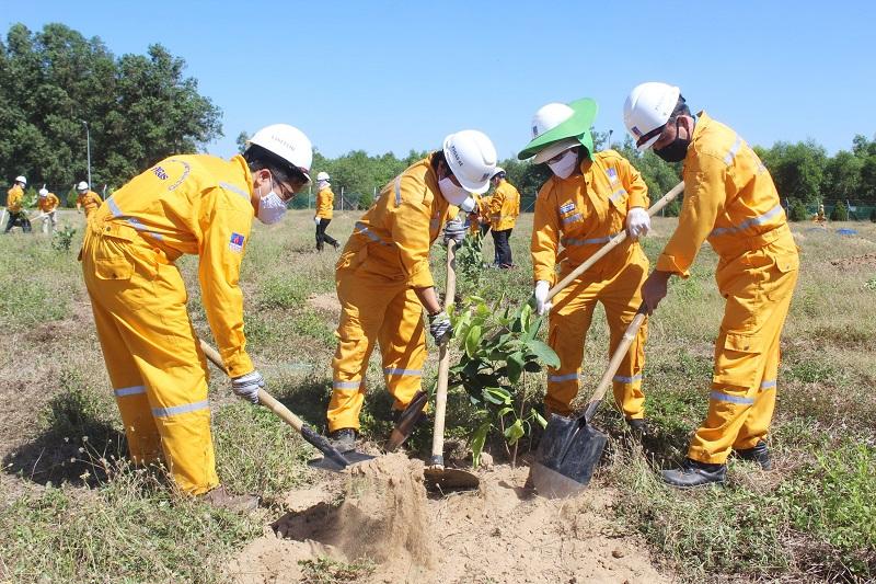 KĐN vượt chỉ tiêu kế hoạch trồng cây trên công trình khí năm 2021