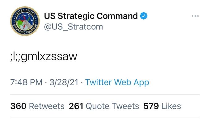 Bộ tư lệnh Mỹ đăng dòng tweet bị nghi là mã hạt nhân