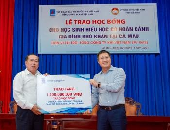 Tổng Công ty Khí Việt Nam trao tặng 500 suất học bổng trị giá 1 tỷ đồng cho học sinh nghèo hiếu học trên địa bàn tỉnh Cà Mau năm 2021