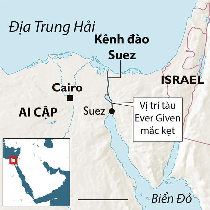 Ai Cập xem xét mở rộng kênh Suez