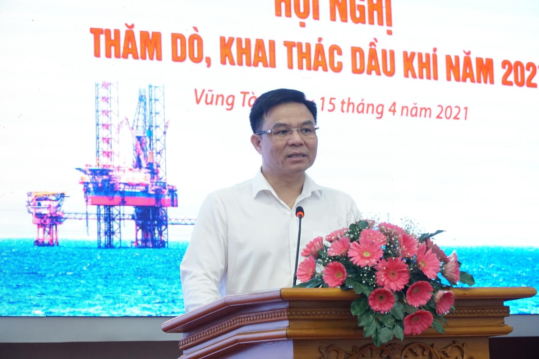 Tổng Giám đốc Petrovietnam Lê Mạnh Hùng phát biểu tại Hội nghị
