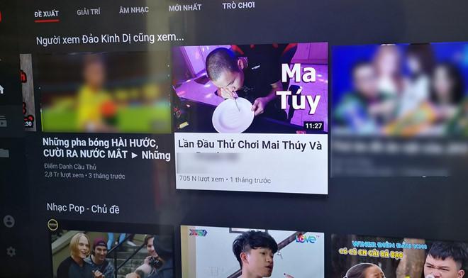 sau kha banh youtube vn lai xuat hien video huong dan choi ma tuy