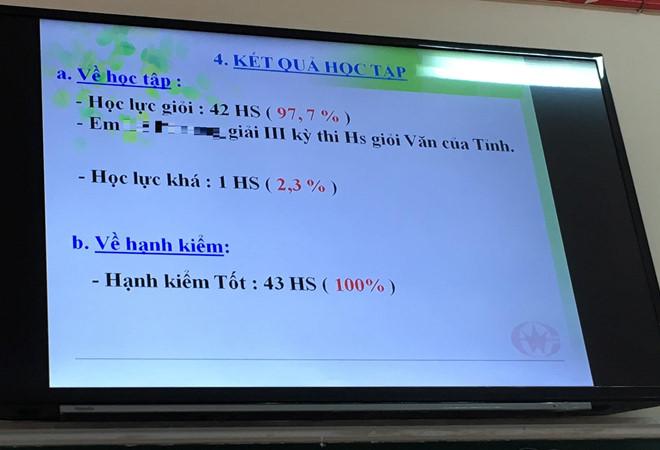 truong day kieu gi ma 4243 em mot lop co giay khen hoc sinh gioi