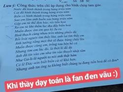Đề Toán in lời bài hát của Đen Vâu khiến học sinh thích thú