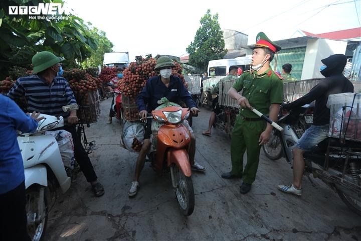 Ảnh: Ấn tượng hàng dài xe chở vải nối đuôi nhau đến điểm thu mua ở Bắc Giang - 8