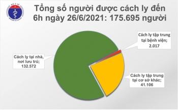 Sáng 26/6, cả nước có 15 ca COVID-19 mới, TP.HCM bổ sung mã 563 bệnh nhân