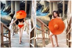 ho ngoc ha khoe anh bikini nuot na ai cung hoang mang bung bau dau roi