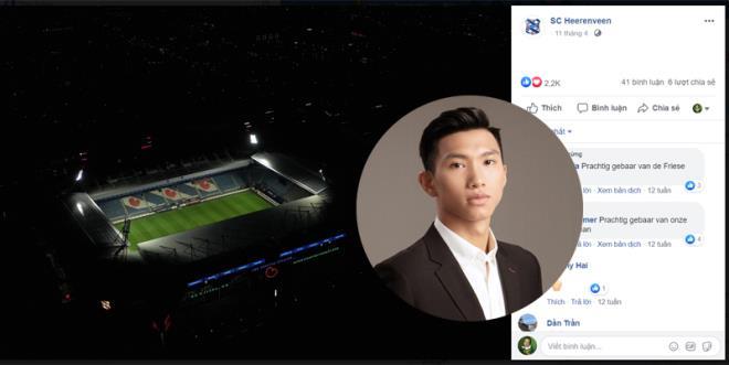 doan van hau ve ha noi fanpage heerenveen mat 27 nghin luot theo doi