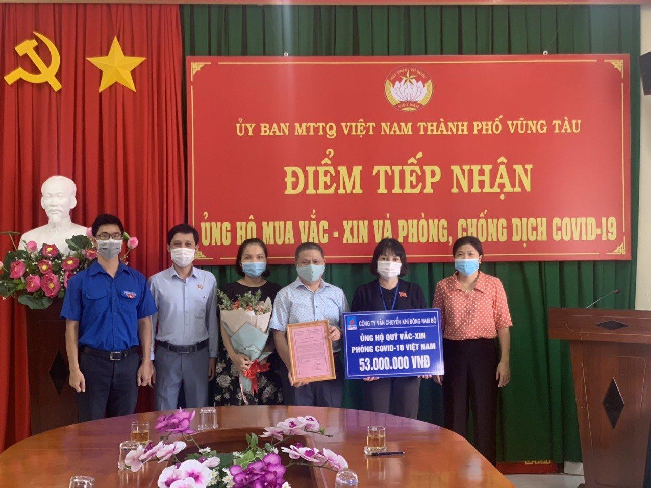 Khí Đông Nam ủng hộ quỹ Vắc xin chống Covid -19