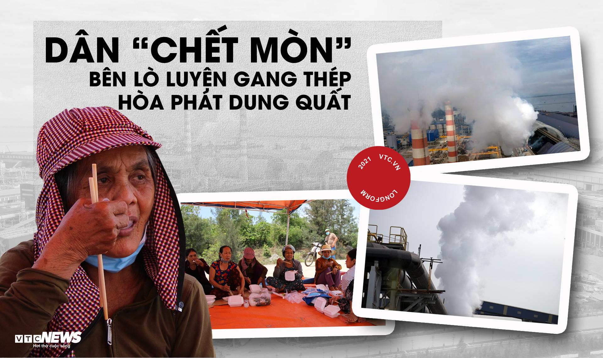Dân 'chết mòn' bên lò luyện gang thép Hòa Phát Dung Quất - 1