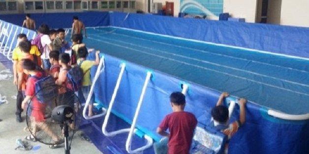 Bé gái 5 tuổi chết đuối thương tâm trong bể bơi trường học ở Nghệ An