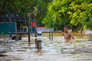 Dự báo mực nước sông Hồng tiếp tục dâng cao, khả năng xuất hiện lũ