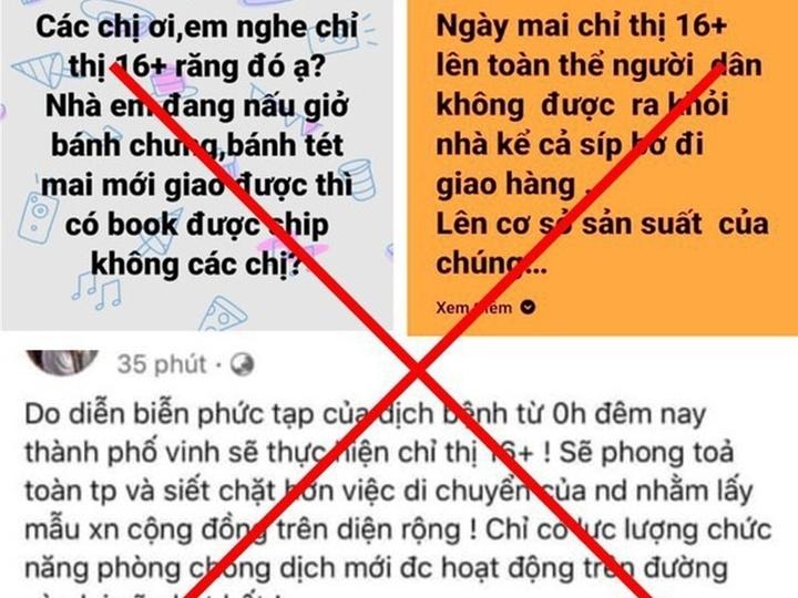 Xử phạt loạt chủ facebook ở Nghệ An đăng tin sai sự thật về phòng chống dịch