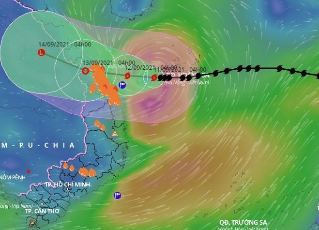 Bão Conson giật cấp 12 hướng vào Quảng Trị - Quảng Nam