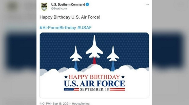 Mỹ đăng ảnh mừng ngày thành lập không quân nhưng lại ghép hình tiêm kích Nga