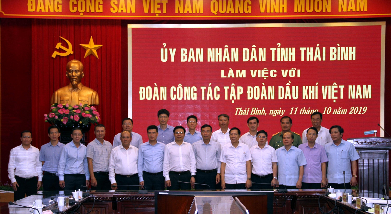 tong giam doc pv gas tham gia doan lam viec voi lanh dao ubnd tinh thai binh