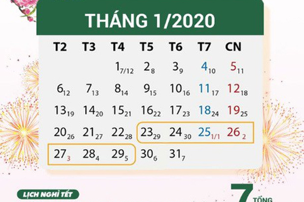 tet nguyen dan canh ty 2020 chinh thuc duoc nghi 7 ngay