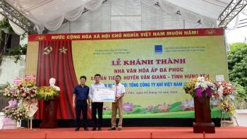 PVN, PV GAS tài trợ xây dựng công trình Nhà văn hóa cộng đồng Đa Phúc, xã Tân Tiến, huyện Văn Giang, tỉnh Hưng Yên