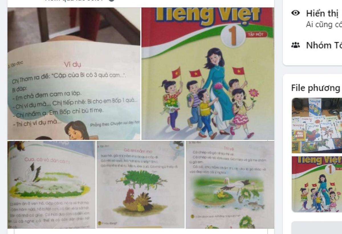 Sách Tiếng Việt lớp 1 là chủ đề nhận được nhiều quan tâm trên các diễn đàn giáo dục. (Ảnh chụp màn hình)
