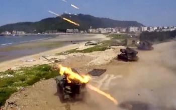 Trung Quốc tập trận mô phỏng tấn công đổ bộ Đài Loan