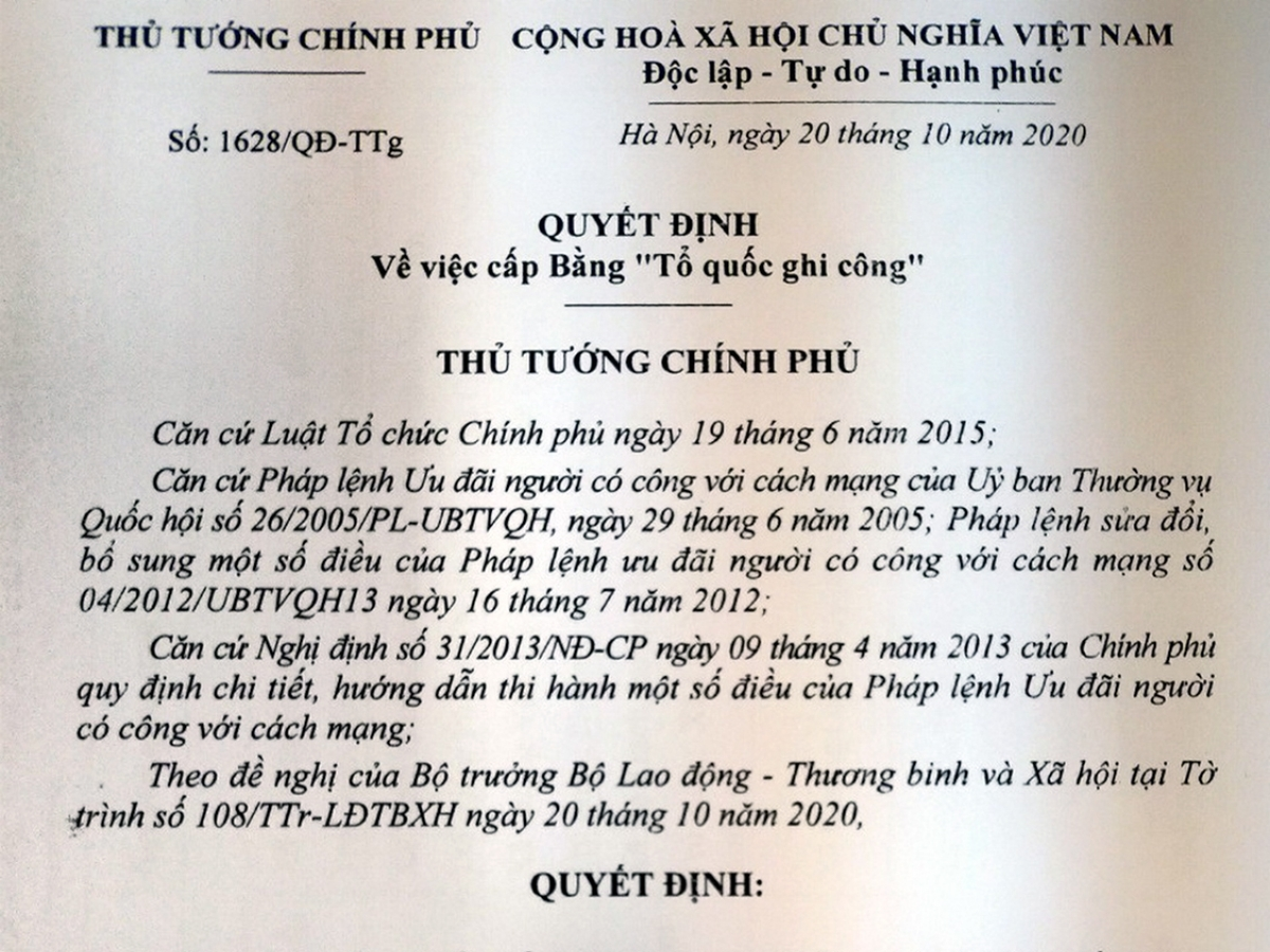truy tang bang to quoc ghi cong cho 22 can bo chien si doan ktqp 337 hy sinh