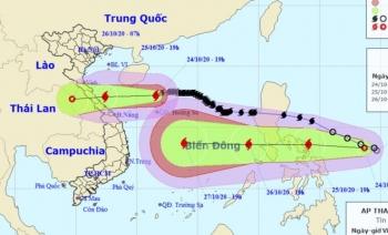 Bão số 8 chưa qua, bão số 9 khả năng sẽ hình thành và mạnh lên vào 25/10