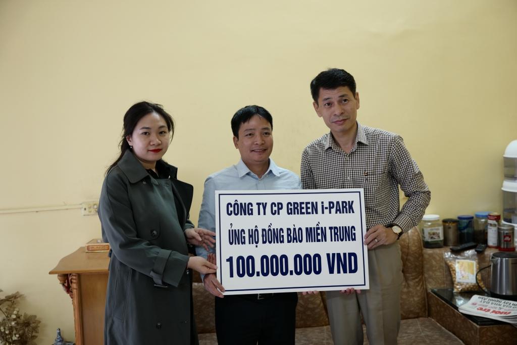 tong cong ty green i park ho tro 100 trieu dong cho ba con vung bi thien tai