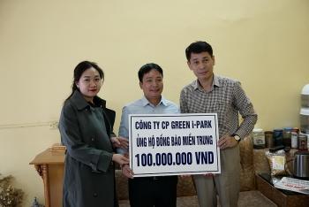 Tổng công ty Green i-Park: Hỗ trợ 100 triệu đồng cho bà con vùng bị thiên tai